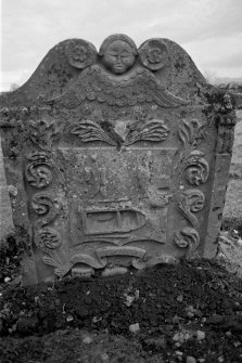 REPLACED BY NEW DIGITAL IMAGE 2016. Kinfauns, Kinfauns Old Parish Church. Gravestone commemorating Amelia Paterson, d.1761.