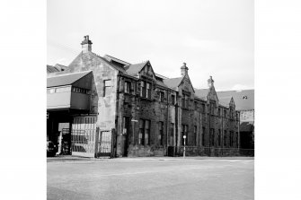 Coplaw Tram Depot View from S showing ESE front of 522 Pollockshaws Road