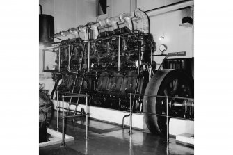 Perth, 1 Mill Street, Pullar's Dyeworks, Interior View showing 6 cylinder Ruston and Hornsby generator engine