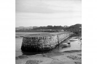 St Andrews Harbour, Southern (Short) Pier View from NNE showing NW front and curved NE front