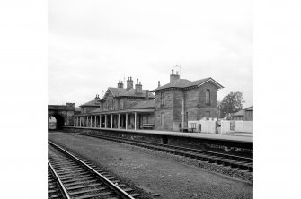 Cupar, Station Road, Station and Associated Buildings General view from NE showing NNE and SE fronts of main station building