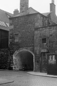 Edinburgh, Leith, Dock Street, Citadel. General view of the archway.