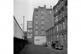 Glasgow, Norval Street View from W, Greenbank Leather Works in foreground, Stanley Printing Works in background