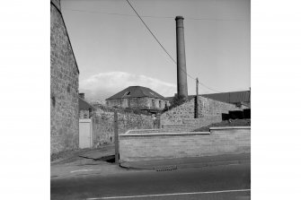 Dunfermline, 32-40 William Street, Baldridge Factory View of main buildings from William Street, from W