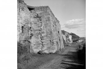 Charlestown Limekilns View along front of kilns, from W