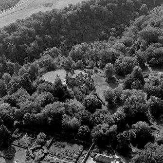 Newhall House, oblique aerial view taken from the NE.
