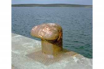 Detail of bollard on pier