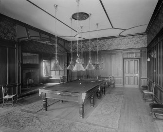 Interior-general view of Billiard Room in Craig House