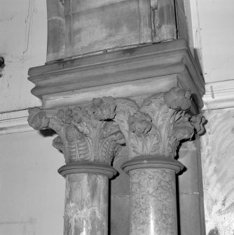 "Interior. Detail of free ""Corinthian"" capitals. Digital image of E 2278."