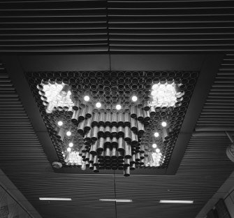 Phase I. View of ceiling lighting on main concourse. Digital image of B 45112.