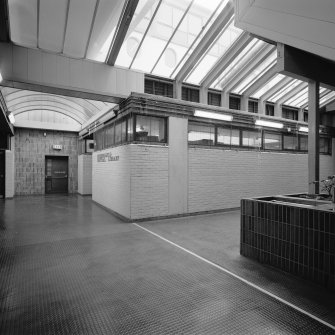Phase I. Third floor concourse, view of central library. Digital image of B 45108.