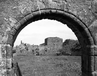 General view of West elevation from entrance gateway within West enclosure wall. Digital image of AB/2035.