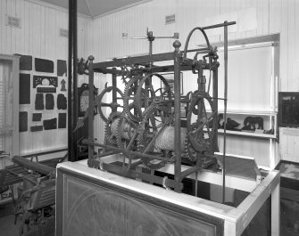 Tolbooth clock, detail of mechanism. Digital image of B/70322.