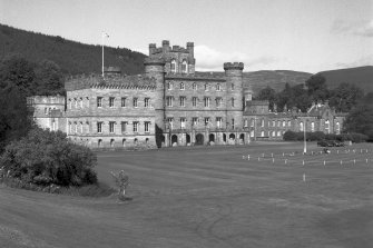 Taymouth Castle.  View from South West. Digital image of D/21740.