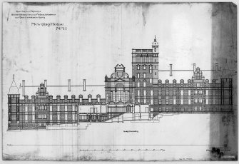 "Digital image of drawing showing North Elevation of Craig House Insc. ""This Plan is the Property of Messrs Sydney Mitchell & Wilson Architects and must be returned to them. New Craig House  No.11.  13 Young Street, Edinburgh. 21st March 1889."""