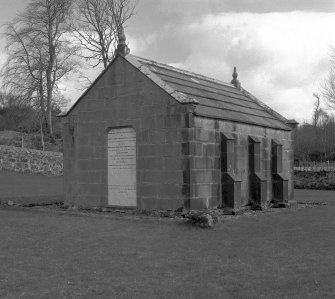 Mull, MacQuarrie's Mausoleum. General view from North-West.