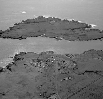 Oblique aerial photograph of Orsay Island and Port Wemyss, Islay, taken from the ENE.