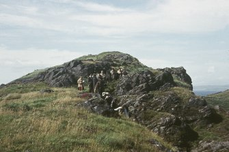 "Copy of colour slide showing view of Dunagoil, Bute insc;"" Members of B.A. excursion descending N. side"" NMRS Survey of Private Collection  Digital Image Only"