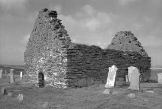 Kilnave Chapel, Kilnave. View from South West.