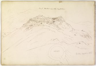 Drawing and sketch plan of dun from album, page 72(reverse).  Digital image of AGD/796/1/P.