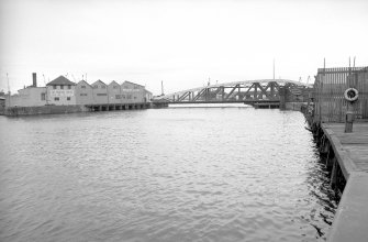 General view looking NW showing bridge with part of engineering works on left