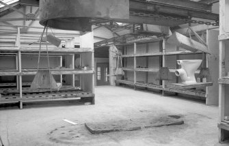 Interior View of head of chain conveyor down to kilns, from 1st floor area Digital image of B 9405