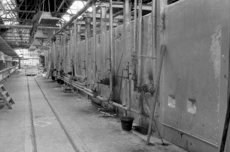 Interior View looking W at 'fire boxes' on south side of north kiln Digital image of B 9425