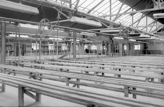 Interior General view of making shop, second floor, (looking SW towards office block) Digital image of B 9411