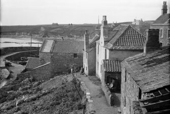 Crail, Shoregate. View from north east looking towards harbour.