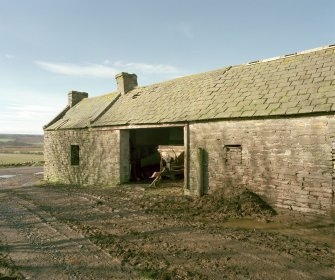 View of South end of East range of steading from North East. Digital image of D 23954 CN