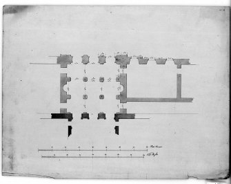 Photographic copy of plan of part of principal floor. Digital image of LAD 18/124 P.