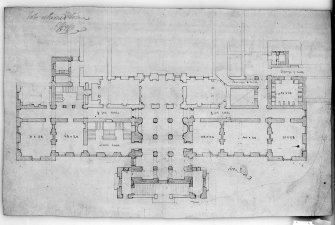 Photographic copy of plan of ground floor. Digital image of LAD 18/40 P.