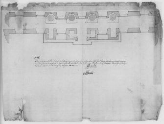 Photographic copy of plan of North front. Digital image of LAD/18/25 P.