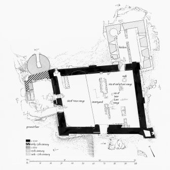 Castle Sween. Photographic copy of plan of ground floor.