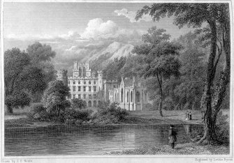 Taymouth Castle. Digital image of engraving of general view.