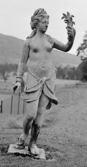 Blair Castle, walled garden. View of statue of Ceres by John Cheere 1740. Digital image of PT 4416.