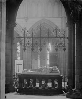 Edinburgh, Palmerston Place, St. Mary's Episcopal Cathedral. Interior-general view from behind monument to Dean Montgomery in St Mary's Episcopal Cathedral
