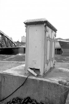 View from ENE showing N and E fronts of junction box with part of bridge in background