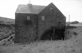 View from E showing E front with water wheel