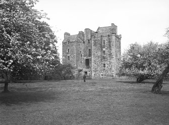 Elcho Castle. General view from South-West. Digital image of PT 2188