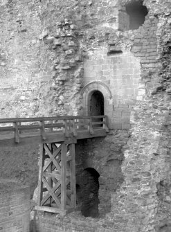 North Berwick, Tantallon Castle. Detail of bridge to entrance in tower. Digital image of EL 1189