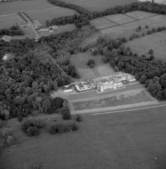 Scan of RX/1744. Aerial view of Floors Castle and estate.