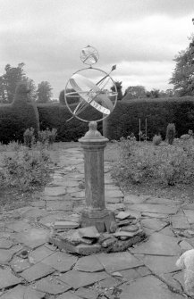 General view of sundial, Bamff House