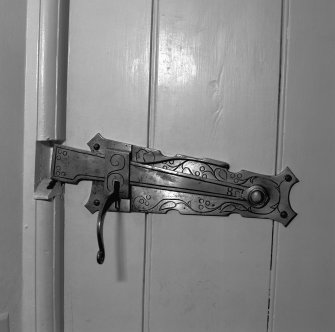 Detail of door latch.