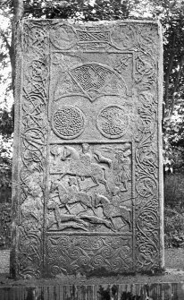 View of reverse of Hilton of Cadboll cross-slab. Reproduced as frontispiece in J Anderson 1881, Scotland in Early Christian Times, second series.
