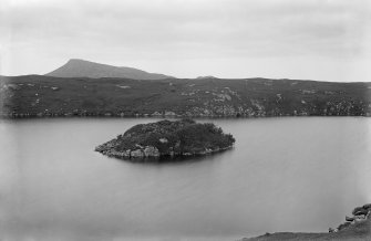 General view across loch to island dun.