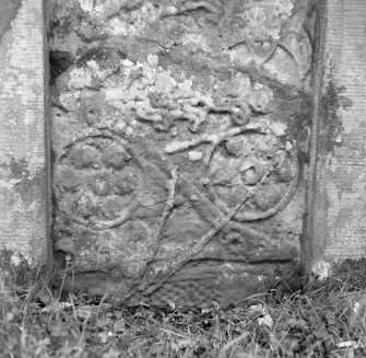 Detail of reverse of the Princess Stone Pictish cross slab, Glenferness.