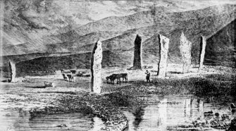 Scanned image of romantic View P.Skelton. Original not located  Frontispiece to Orkney in Early Celtic Times, James MacBeath 1892     PSAS APP 11 (10)