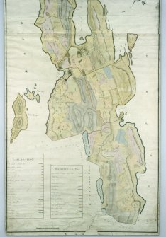 Craignish Castle. Digital copy of lower half of plan of estate by George Langlands.
