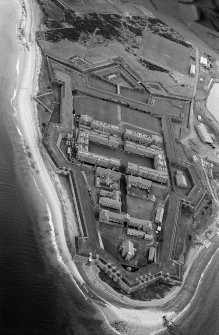 Oblique aerial view centred on Fort George, looking to the ENE.